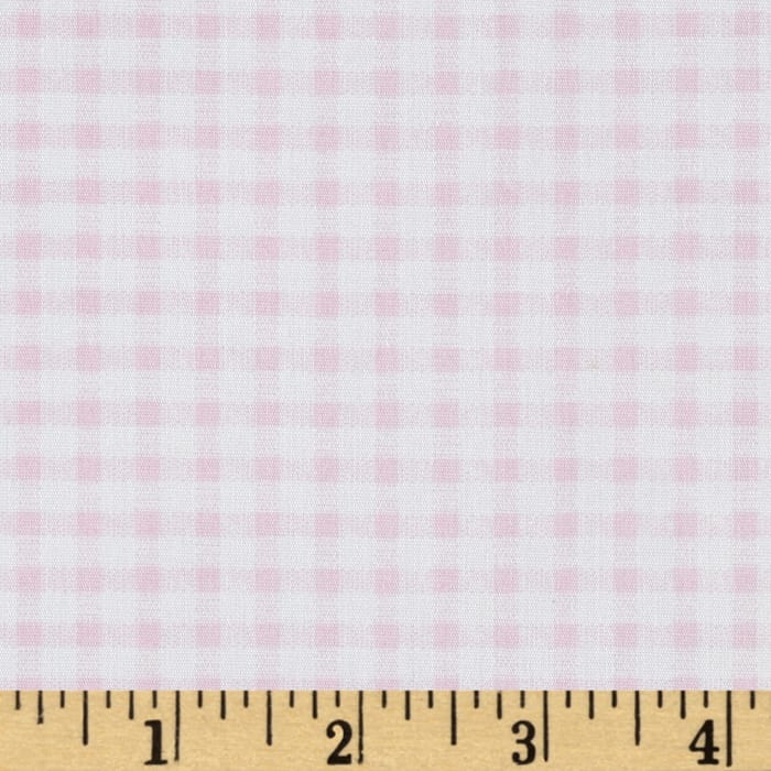 Telio Morocco Blues Stretch Poplin Gingham Print Baby/Pink/White