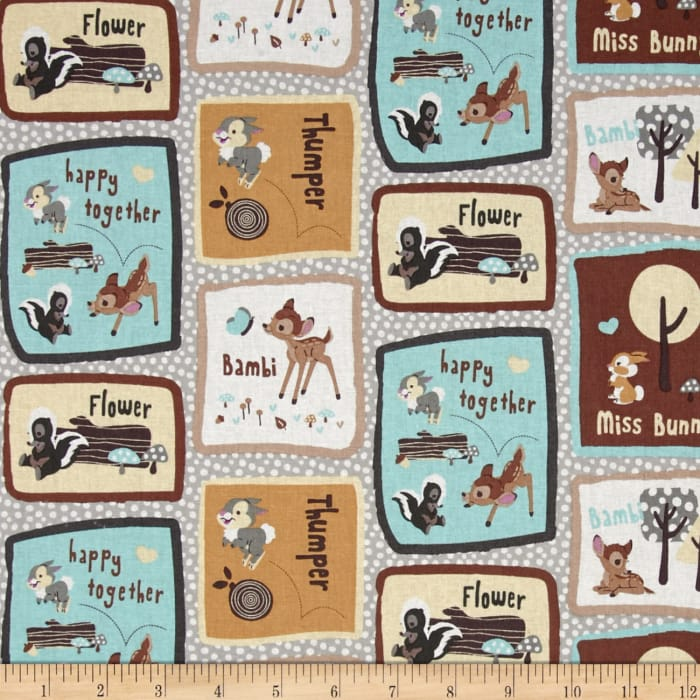 Disney Bambi Happy Together Bambi & Friends Patch Brown