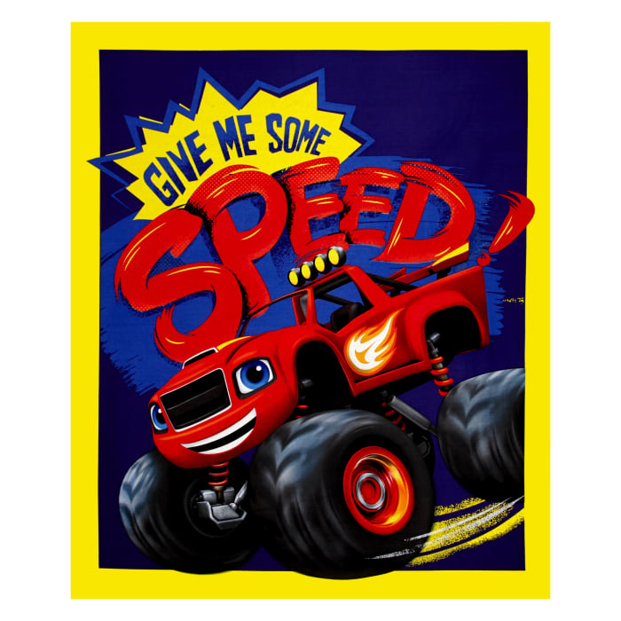 Nickelodeon Blaze Give Me Some Speed 36 In. Panel Blue