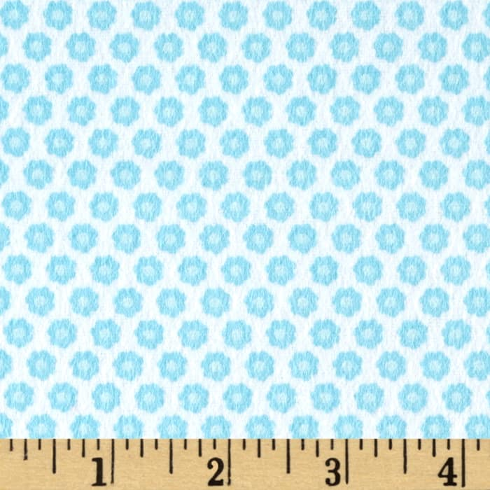 Michael Miller Nature Babies Flannel Lil Buds Turquoise