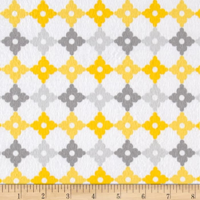 Kaufman Cozy Cotton Flannel Geo Plaid Yellow