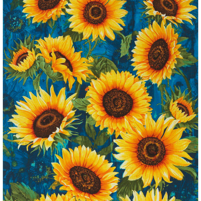 Timeless Treasures Wild Gold Sunflower Packed Discount
