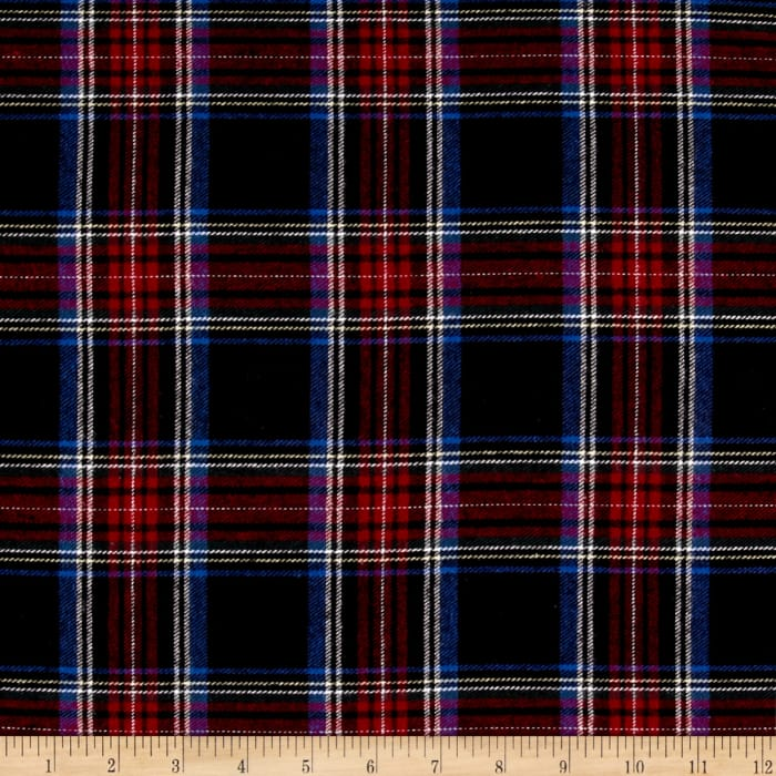 Yarn Dyed Flannel Plaid Navy Red