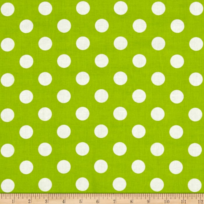 "Riley Blake 108"" Wide Medium Dot Lime"