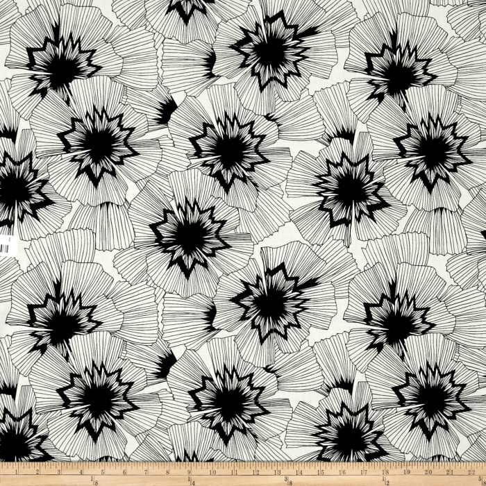 Cotton + Steel Black and White Persephone Natural