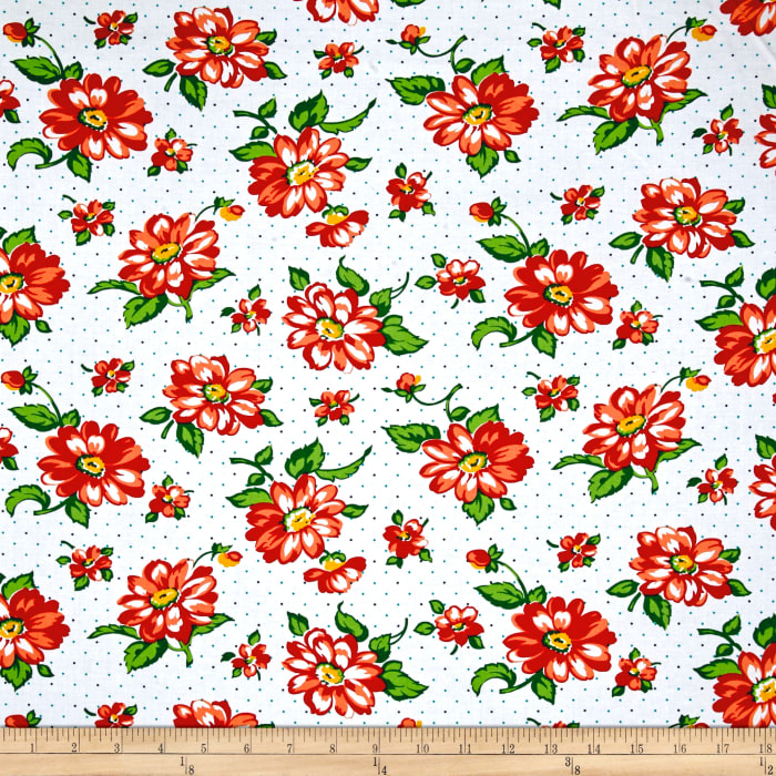 Dixie Large Floral White
