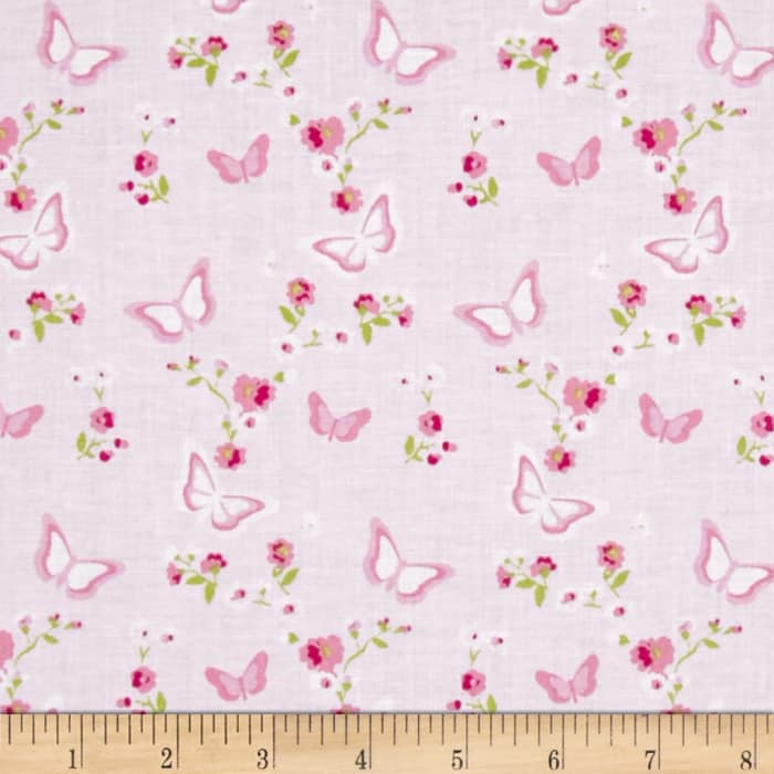 Tanya Whelan Zoey's Garden Butterfly Floral Pink