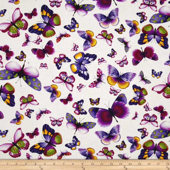 Purple And White Quilting Fabric