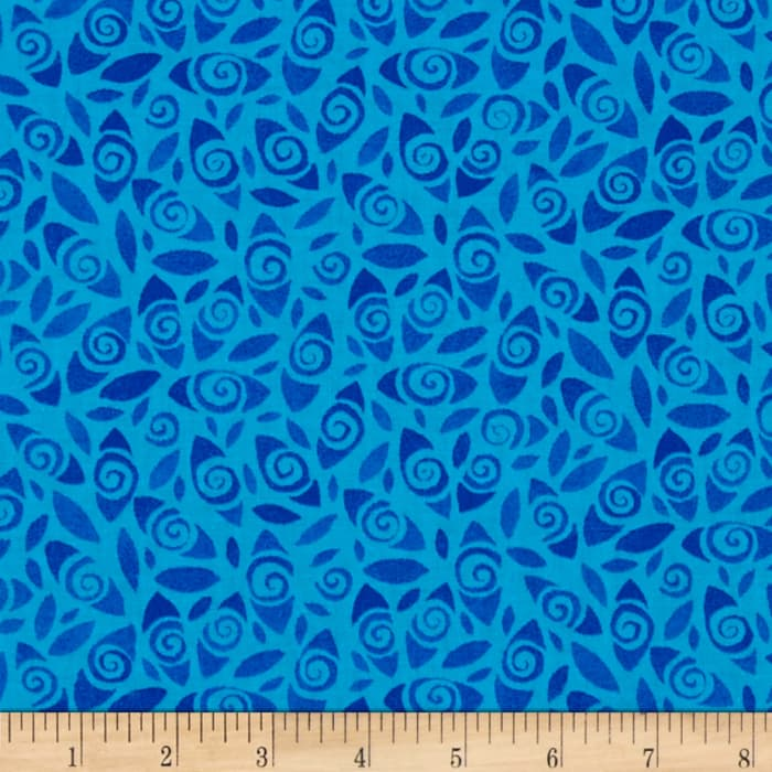 Flowers Retro Floral Turquoise