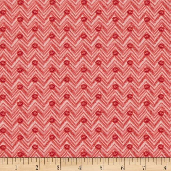 Chevrons and Dots Red/White
