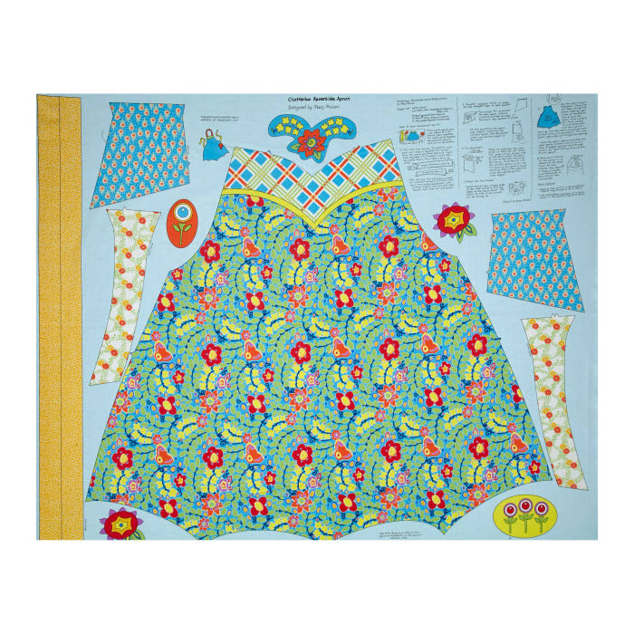 """Penny Rose Chatterbox Aprons 36"""" Panel Blue"""