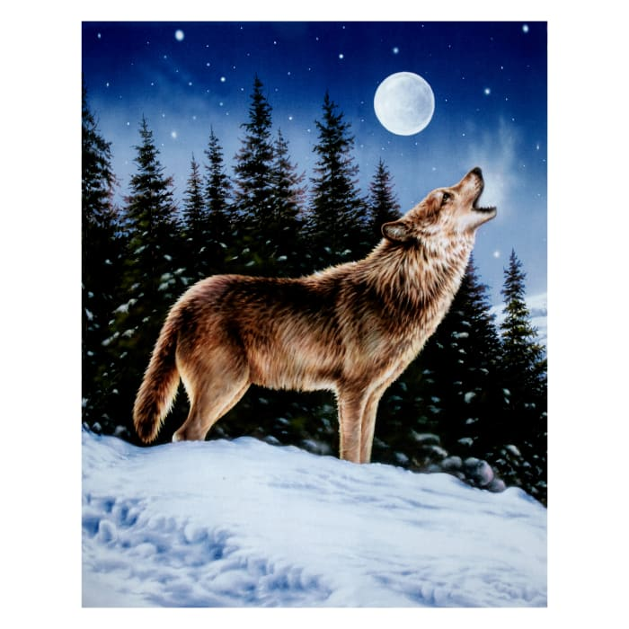 "Penny Rose Majestic Outdoors Digital Wolf 38"" Panel Multi"