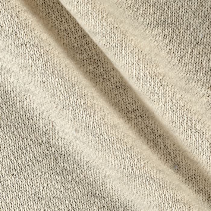 French Terry Knit Solid Cream