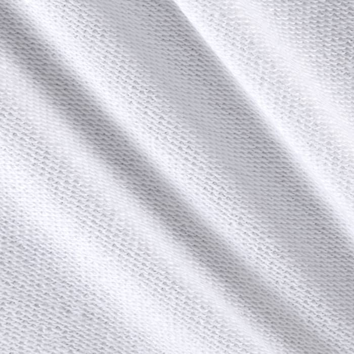 French Terry Knit Solid White