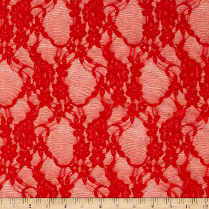 Giselle Stretch Floral Lace Red