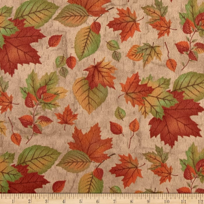 Moda Endangered Sanctuary Flannel Autumn Leaves Pecan