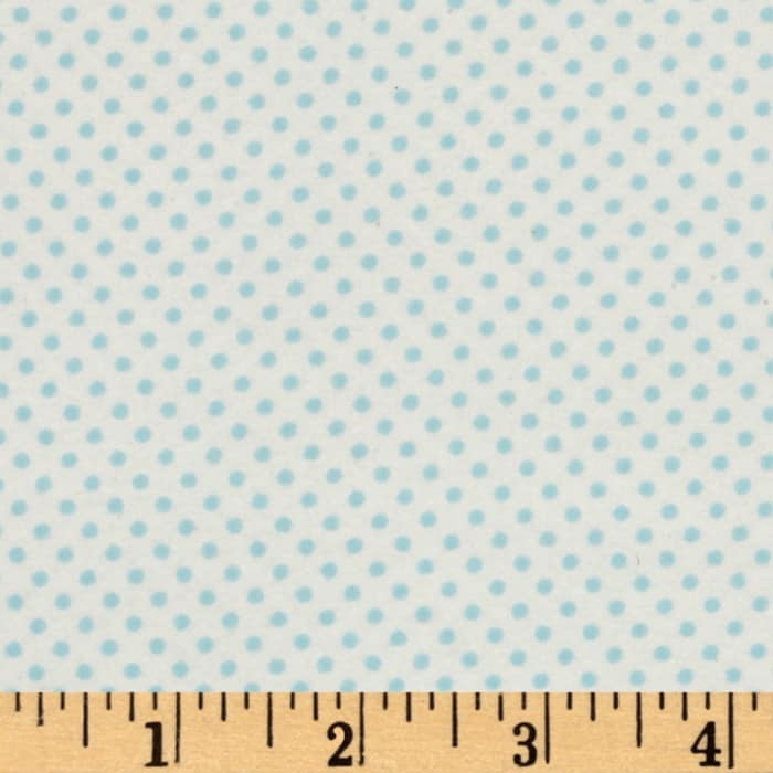 Moda Sweet Baby Flannel Tiny Dot Sky/Cloud