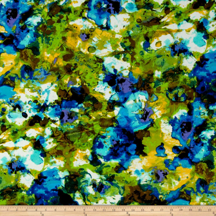 Floral ITY Knit Blue/Green/Yellow