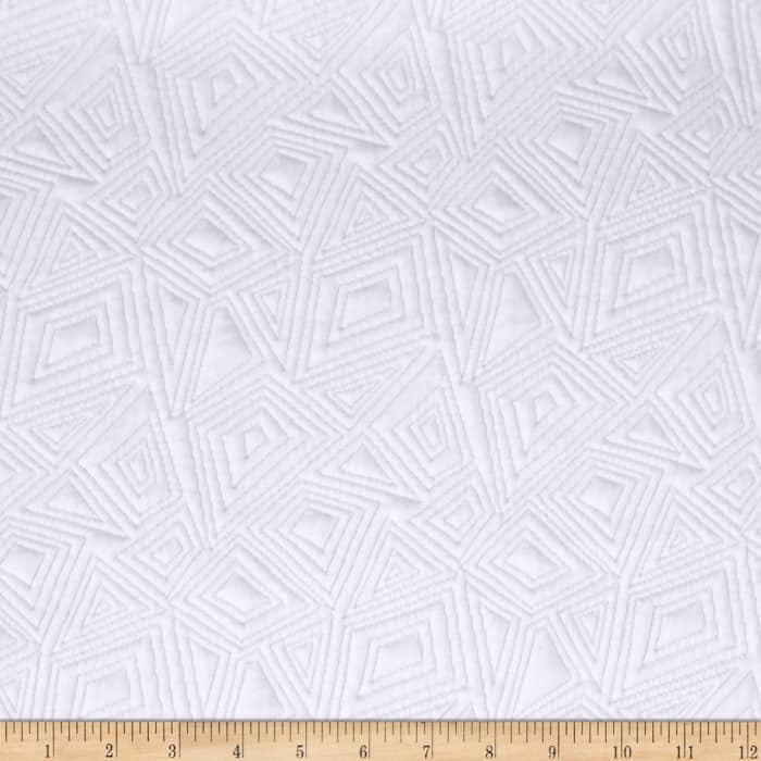 Geometric Quilted Knit White