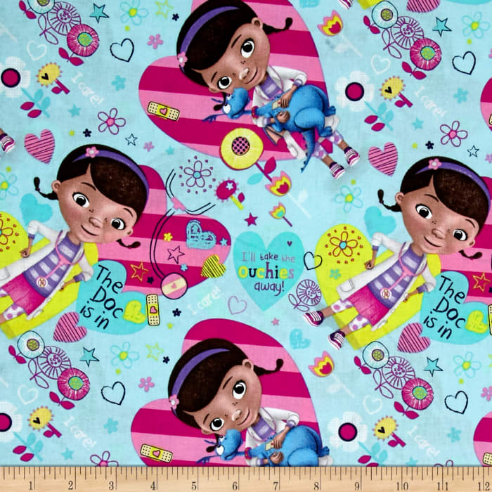 Disney Doc McStuffins The Doc is in Allover Blue