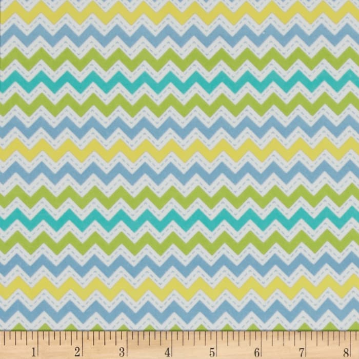 Kimberbell Little One Flannel Too! Zig Zag Blue
