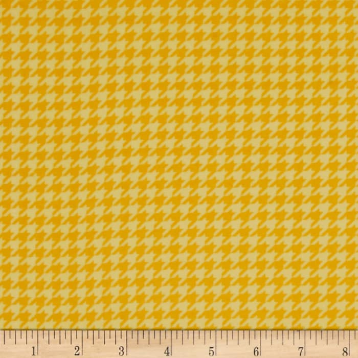 Kimberbell Little One Flannel Too! Houndstooth Sunny Yellow