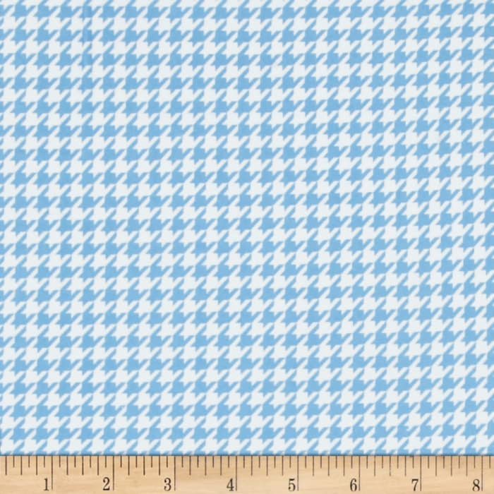 Kimberbell Little One Flannel Too! Houndstooth White/Blue