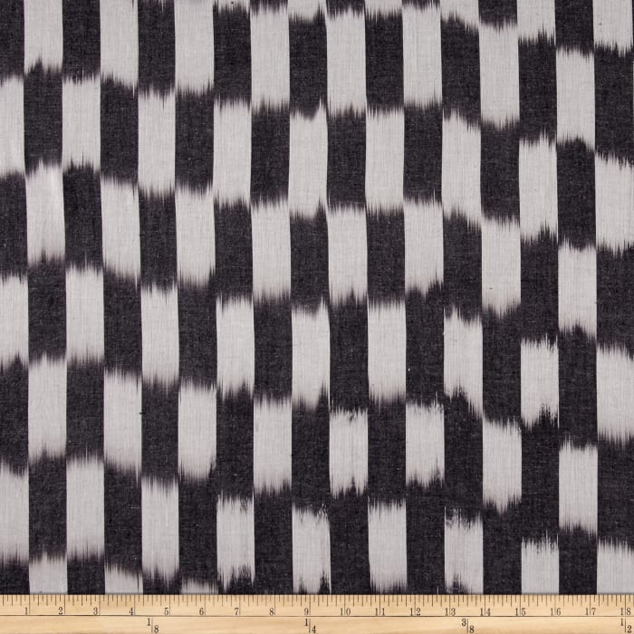 Dream Weaves Woven Ikat Check Grey
