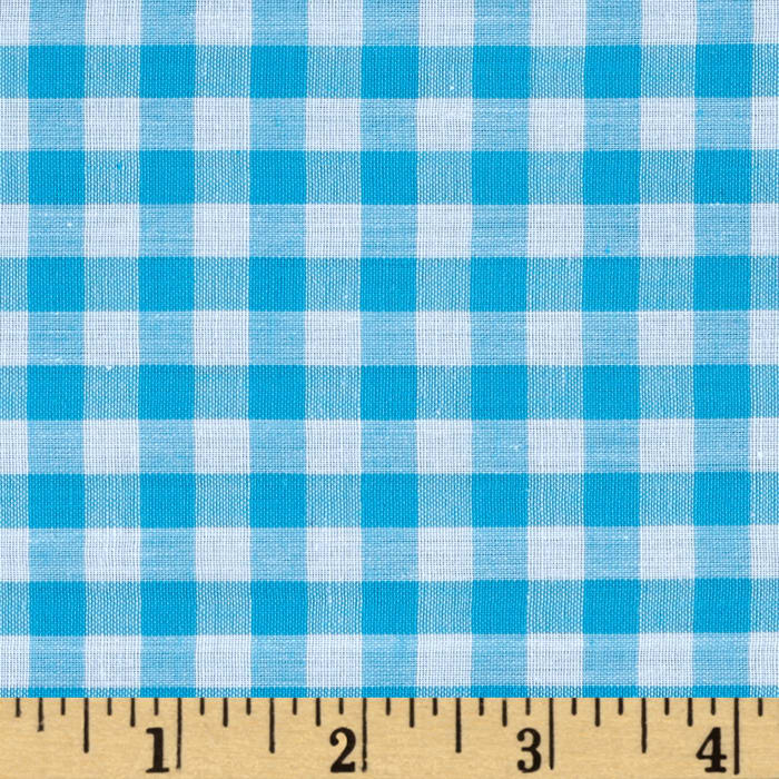 """Richcheck 60"""" Gingham Check 1/4"""" Turquoise"""