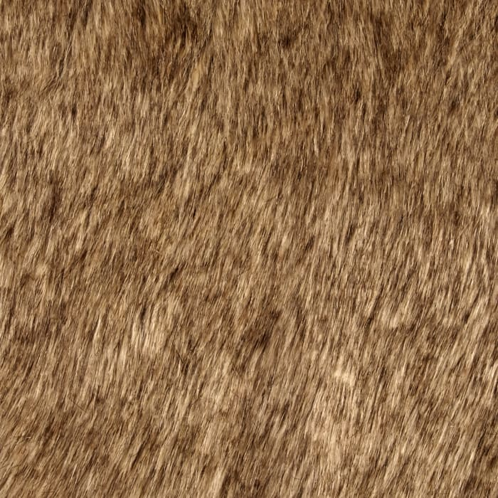 Luxury Faux Fur Tipped Fox Tan