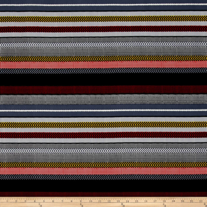 Peachskin Stripe Gray/Red