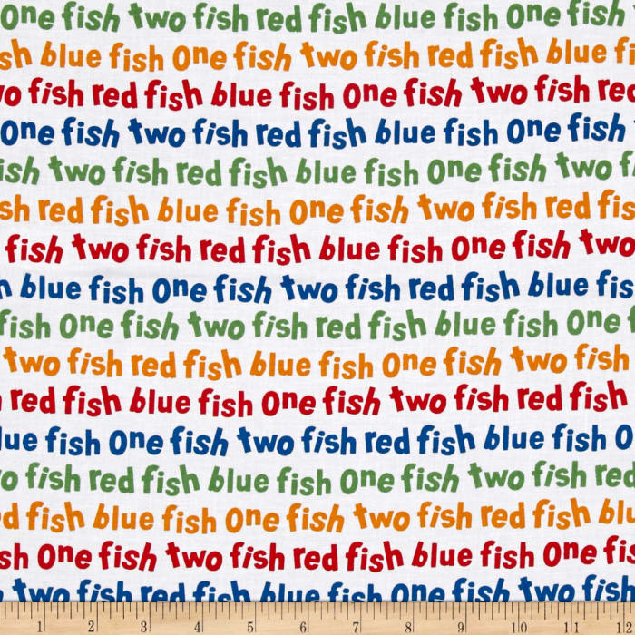 Dr. Seuss One Fish Two Fish Words Celebration