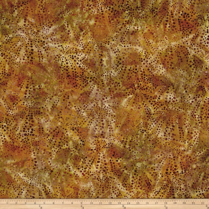 Kaufman Artisan Batiks Tiger Fish Bubble Spray Earth