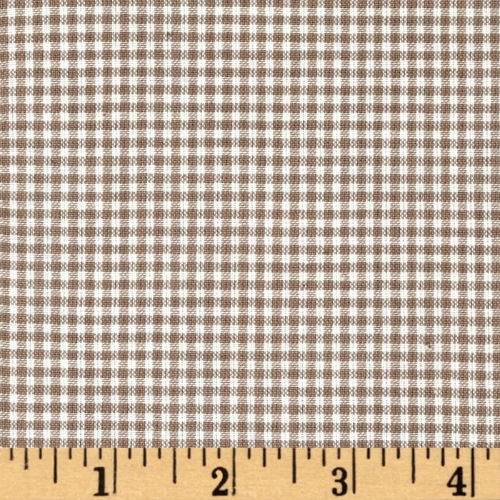 Rustic Woven Small Check Natural Taupe