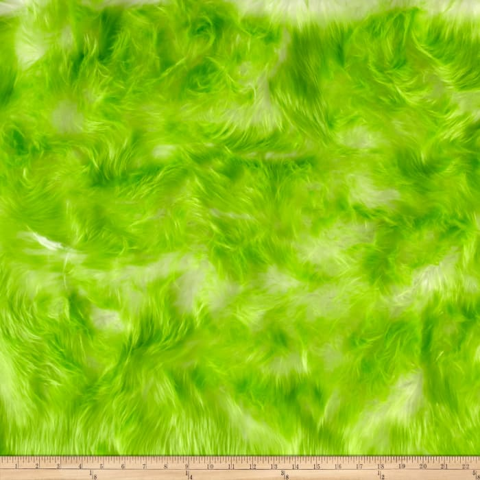 Shannon Luxury Faux Fur Candy Shag Lime