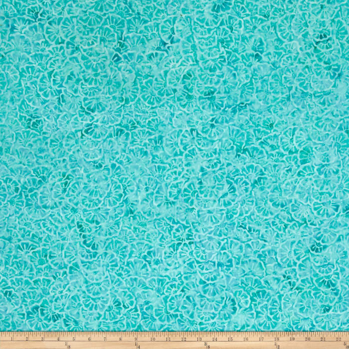 Wilmington Batiks Stacked Floral Aqua