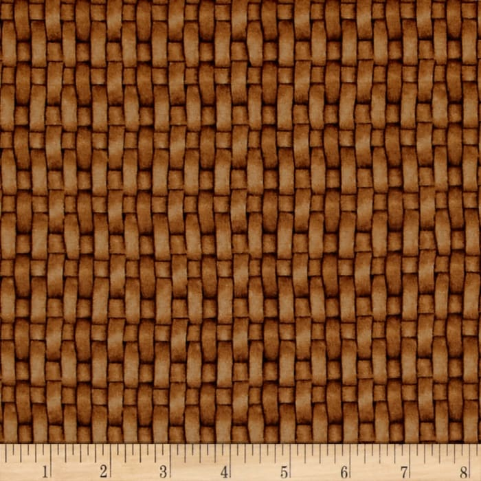 Sew Curious Basket Weave Gold Brown