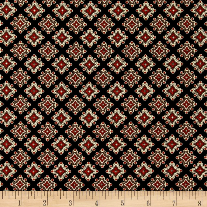 Caravan Diamond Foulard Black/Terracotta