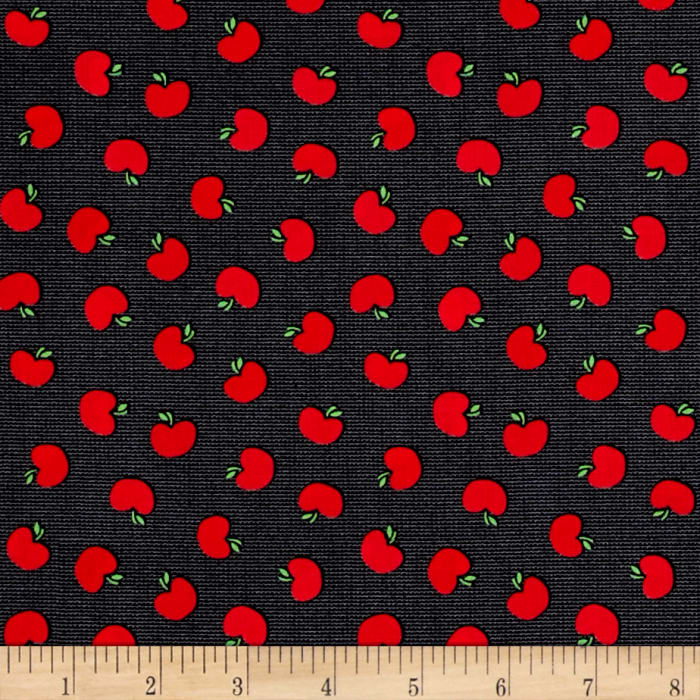 Kanvas The Big Apple Tossed Apples Gray/Red