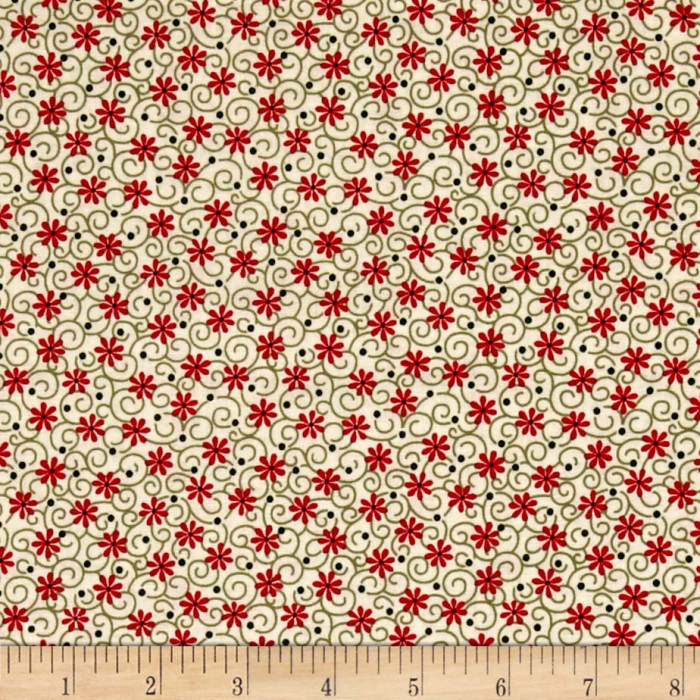 Always The Season Floral Green/Cream/Red