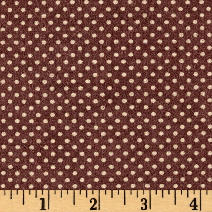 Flannel Dots Brown