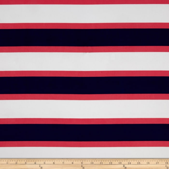 Faille Multi Stripes Coral/Ivory/Navy