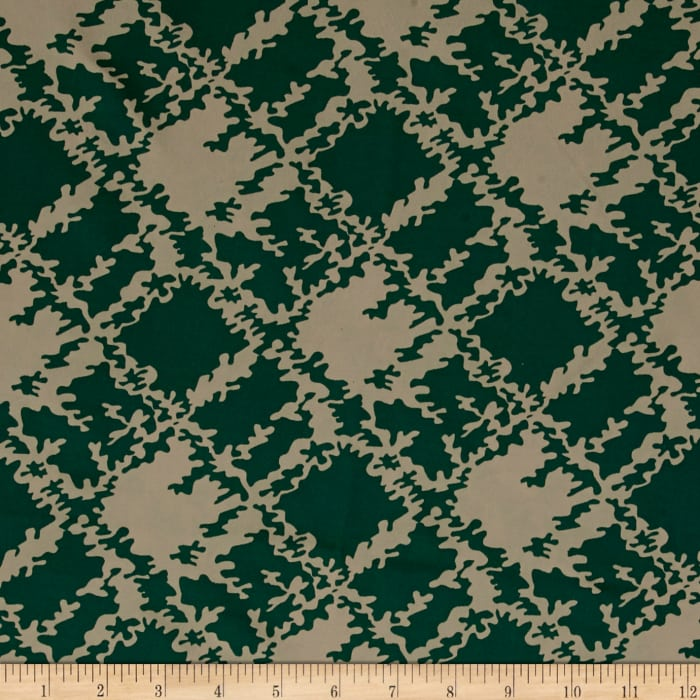 Swim Activewear Activewear Spandex Knit Abstract Mod Brown Green