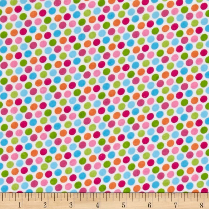 Alpine Flannel Dot Pink