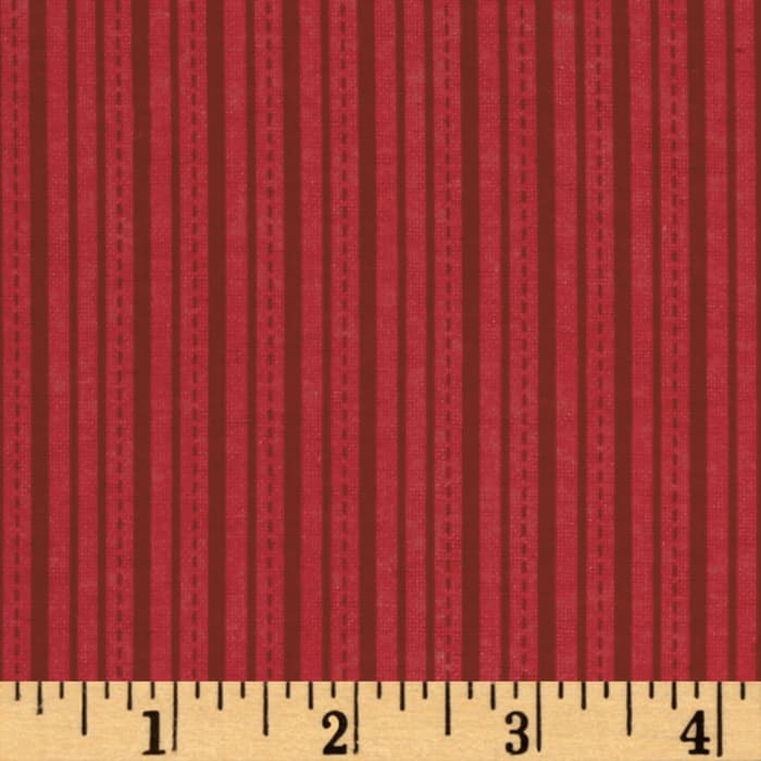 Alpine Flannel Stripe Red