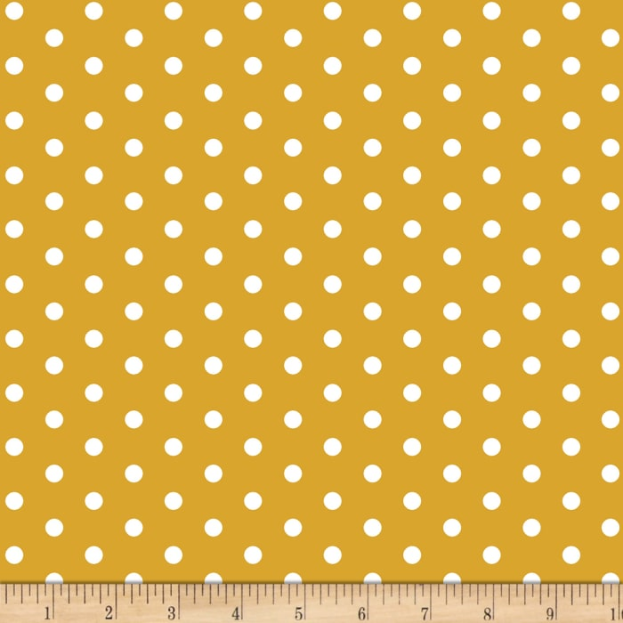 Bolt By Girl Charlee Pure Vintage Jersey Knit Dot Mustard