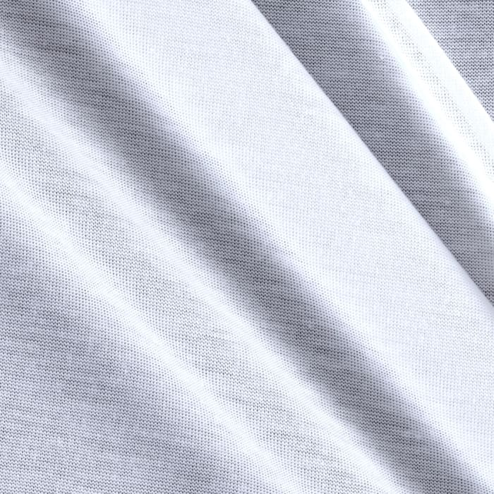 Poly Jersey Knit Solid White