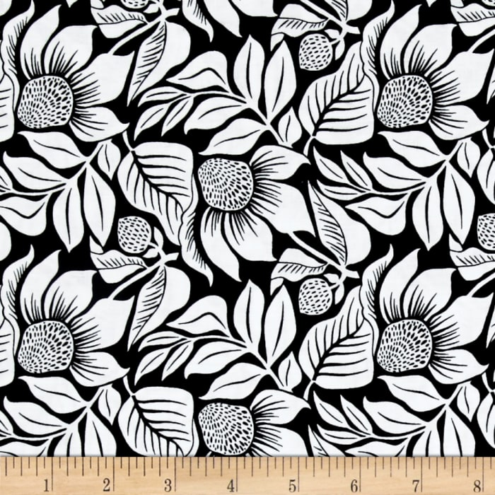 Modern Mixers III Large Floral Black