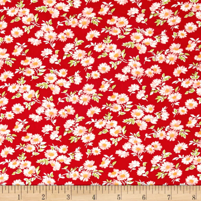 Moda Little Ruby Little Daisy Red