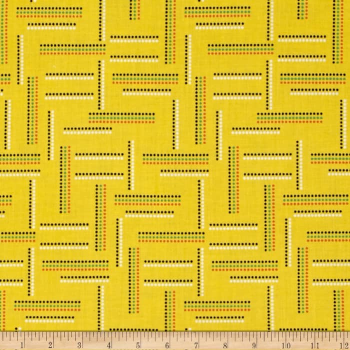 Windham Rumble Dotted Stripe   Yellow